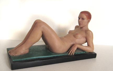 Reclining Nude: epoxy and flock