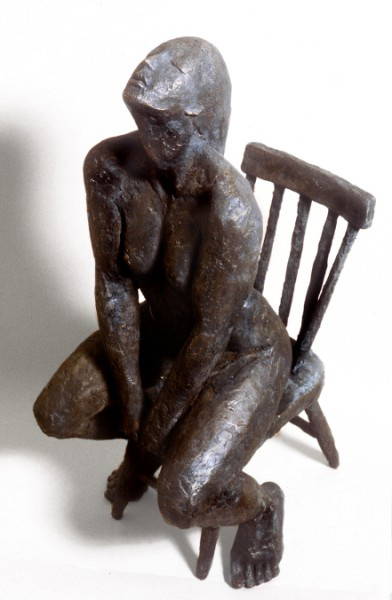 Seated Figure 2: one third life size, bronze
